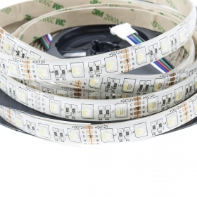 Strip 600 LEDS SMD 5050 RGBW strip adhesive 10m IP20 24V 14.4 W/mt
