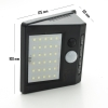 Lighthouse led twilight outside solar panel pir sensor rechargeable camper