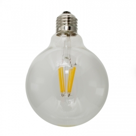 Bulb decorative led 6W globe glass filament E27 2200K warm pub vintage
