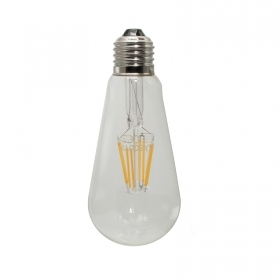 Bulb decorative led 8W glass filament E27 2200K warm light pub vintage