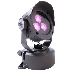 Spotlight outdoor IP65 full color led rgb dmx 24v 7w synchro spot light 30 degrees