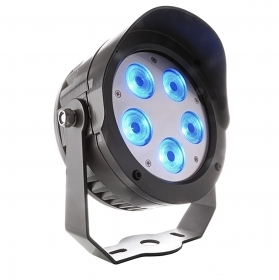 Headlight 5 led 34w full color RGBW 3000K dmx 24v IP65 bracket external facades plants