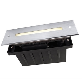 Spotlight floor IP67 rectangular recessed 10 led 2w warm light 3000K 230V