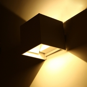 Applique cube lamp wall light led adjustable biemissione 6w 10w 40w IP65