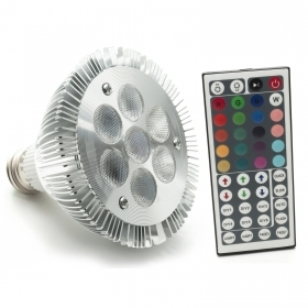 Spotlight lamp spot RGB 7W 230V par30 E27 full color ir 7 led rgb color changer