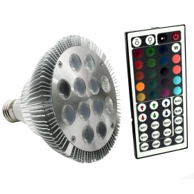 Led lamp E27 RGB 12W PAR38 spo