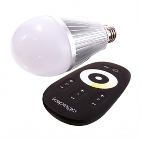 E27 led bulb lamp with double light color from 2700K to 6000K-synchronized RF dimmer
