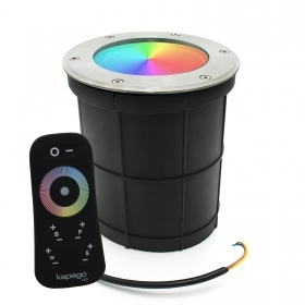 Walkable E27 8W full color RGBW rgb warm light 3000k rf-synchronized IP65