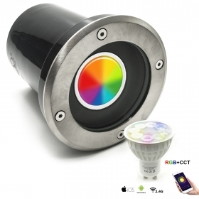 Spotlight recessed floor swivel segnapassi multi colour LED gu10 RGBW