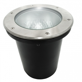 The walkable recessed ground IP65 E27 spotlight marks the distance of the hole 190mm