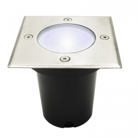 Spotlight floor 8W led recessed square GU10 segnapassi garden light IP65
