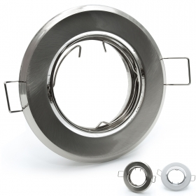 Port spotlight adjustable recessed hole 65 70mm aluminium chrome gu10 gu5.3