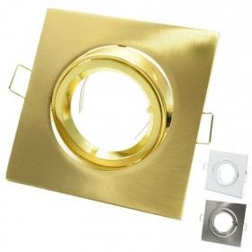 Port spotlight square frame recessed spring hole 8cm color silver gold white