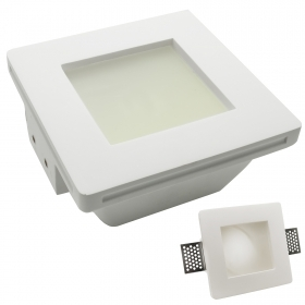 Spotlight gypsum concealed ceiling flush-mounted square frosted glass gu10 LED
