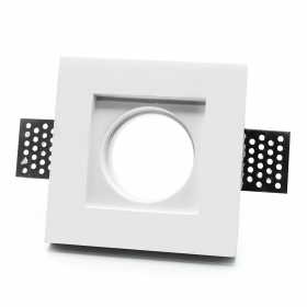 Port spotlight chalk slim 30mm white recessed square hole 103x103mm GU10 GU5.3