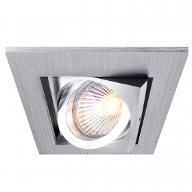 Spotlight, recessed, door holder spotlight square square hole 84mm MR16 aluminum
