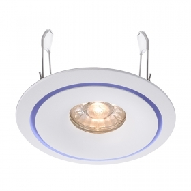 Port spotlight, recessed, white colored rings support lights gu10 gu5.3 hole 90mm