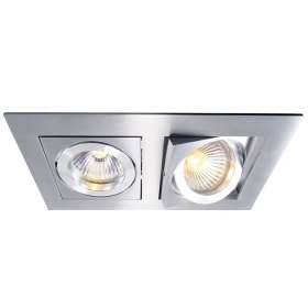 Support for lamps GU10 GU5.3 port led downlight led recessed rectangular directional