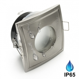 Spotlight square recessed IP65 shower bathroom wet environments