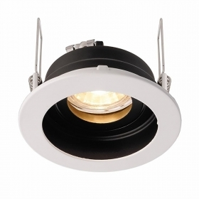 Port spotlight hole 9cm color black white recessed GU10 GU5.3 adjustable