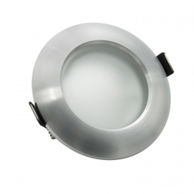 Door spotlight round recessed adjustable aluminum glass hole 68cm GU10 GU5.3