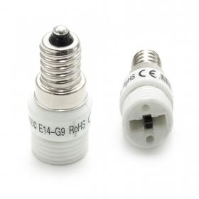 Adapter reducer socket converts to led lamps e14 in g9