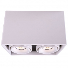 Lamp ceiling double spotlight, adjustable led spot ceiling light GU10 16W 220V