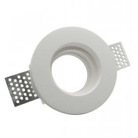Door spotlight round recessed plaster disappearance-compatible GU10 MR16 hole 10 cm