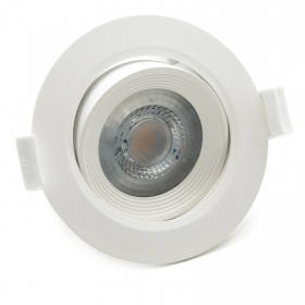 Led downlight round 5W recessed slim swivel white spot hole 75mm angle 38 degrees