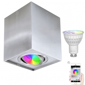 Lamp ceiling led spotlight squ