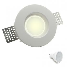 Door spotlight round recessed retractable chalk led bulb lamp 8W GU10 hole 10cm 220V