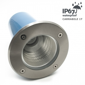 Spotlight recessed segnapassi floor driveway 1t external attack E27 ip67