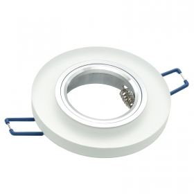 Portafaretto collection round frame-frosted glass-compatible GU10 hole 60mm