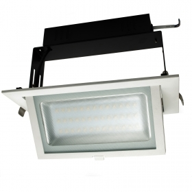 Led floodlight 40W led downlight led recessed rectangular light shop-windows, tilting 3200lm