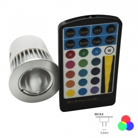 Spotlight led lamp mr16 rgb 5w chromotherapy 16 colors light 12v remote control included rgb the second generation