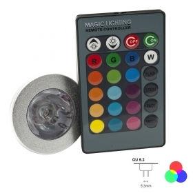Led spotlight rgb color therapy lamp gu5.3 12v 16 colors RGB light LED LIGHT