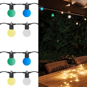 Chain wire lights 10 led lamps E27 decorative light for outdoors 10m ip65 2000w