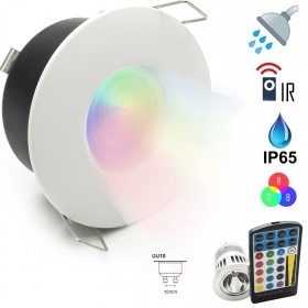 Led spotlight shower 5W Turkish bath, chromotherapy IP65 lamp GU10 RGB 230V