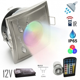 Spotlight IP65 low voltage 12v LED 5w recessed steam shower room RGB multicolor