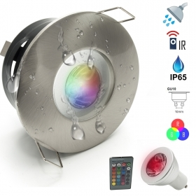 Led spotlight colorful light shower 3W Turkish bath, chromotherapy IP65 GU10 RGB 230V