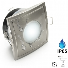 Led spotlight 7W recessed square IP65 lights shower box Turkish bath 12V MR16