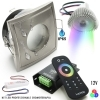 Kit, 2pcs led spotlights flush-mounted chromotherapy shower IP65 RGB controller RF 12V