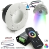 Kit 3pcs led spotlights, recessed, color therapy 8 effects light shower IP65 RGB 12V