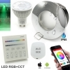 2 Led Spotlights rgb cct box sensory shower IP65 control touch smart phone wifi