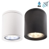 Spotlight ceiling lamp round wet environments shower box Turkish bath E27 IP54