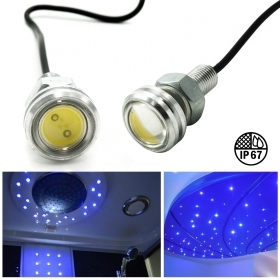Kit starry sky 10pcs led spotlights EAGLE 12v IP67 shower wet environments