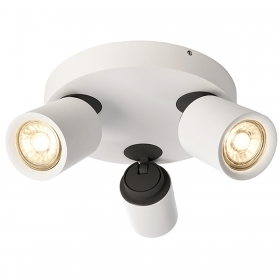 Spotlight lamp ceiling directional led 15w GU10 ceiling 3 arm spot 38 degrees