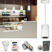 Led light pendant a snack bar pub table lamp rgbw multi color effects games