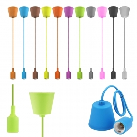 Bulb holder pendant silicone chandelier ceiling suspension various colors E27