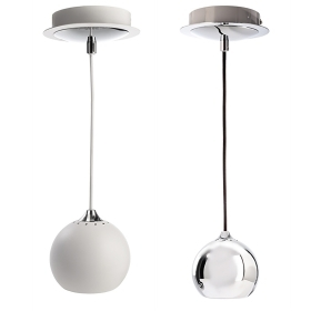 Pendete ball aluminum LED 8W lamp modern suspension globe ceiling GU10
